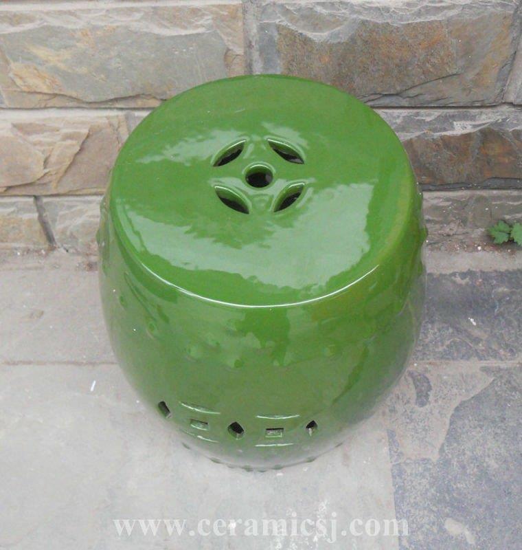 Green drum porcelain Garden Stool WRYIR83