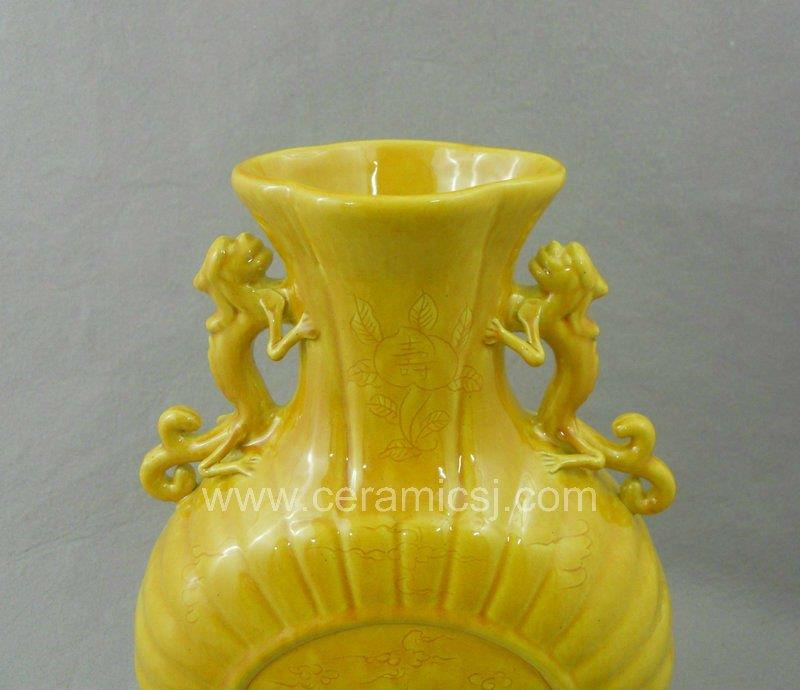 Ming dynasty yellow glazed Ceramic Vase WRYRC01
