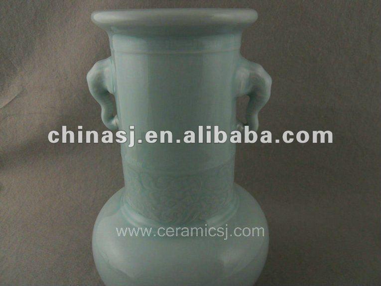 antique celadon porcelain vase with handles WRYKX16