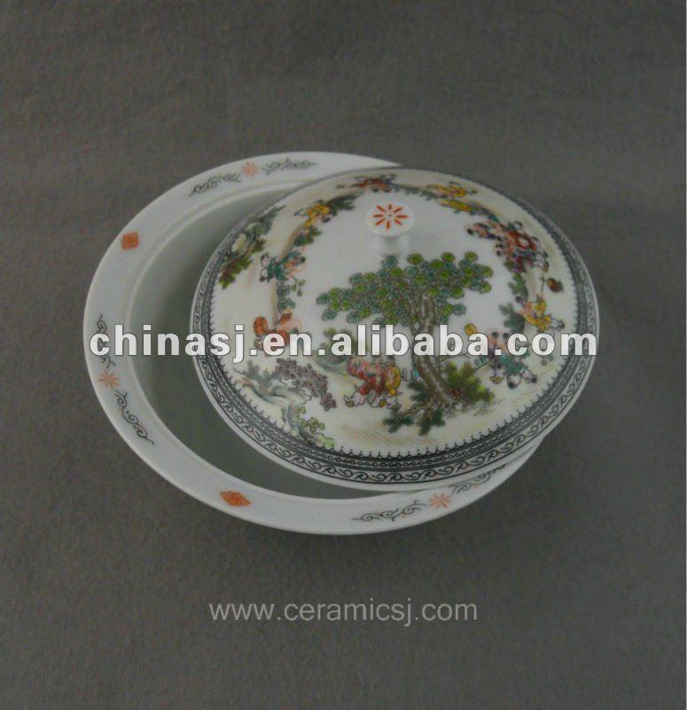 beautiful ceramic colored Tea set with people design WRYNB04