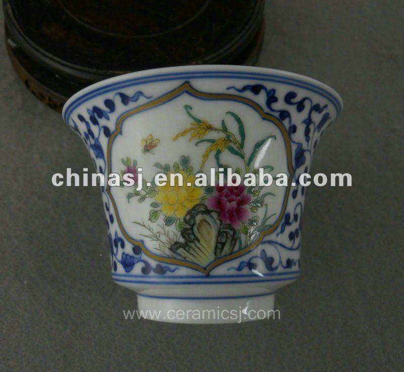 beautiful ceramic blue and white Tea set with flower design WRYAJ02