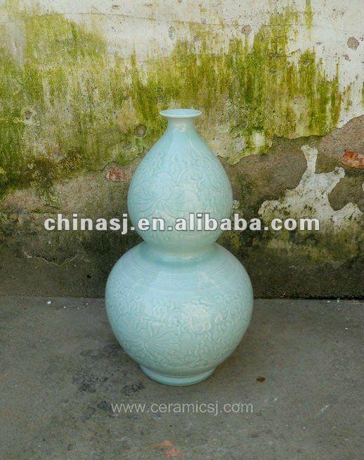 hand made celadon ceramic gourd Vase WRYMA53