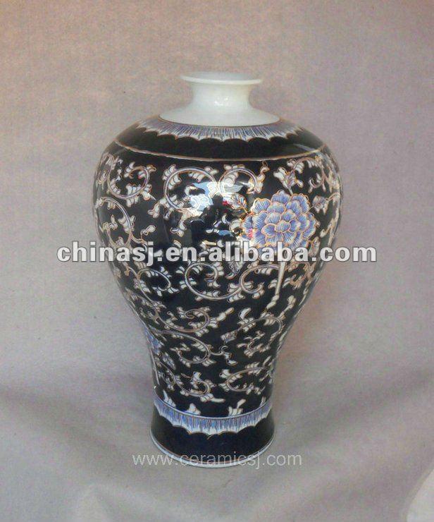 blue and white gilt ceramic Flower Vase RYTA05