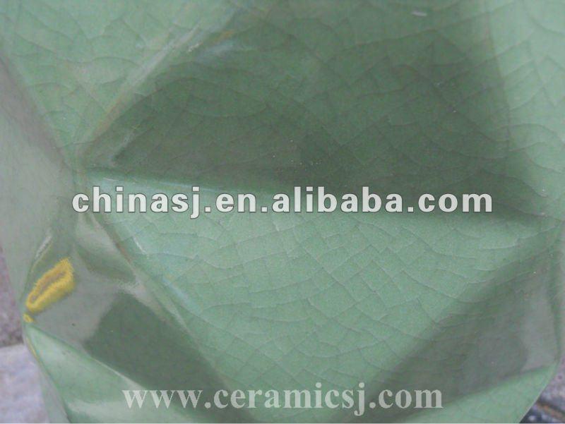 Crackled Green ceramic Outdoor Stool WRYKB60