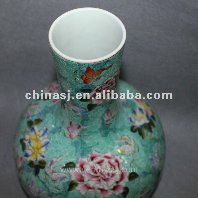 Antique hand painted Porcelain Vase RYUY01