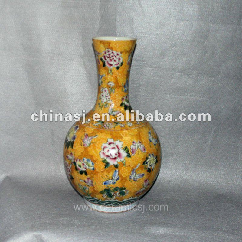 Antique hand painted Porcelain Vase RYUY02