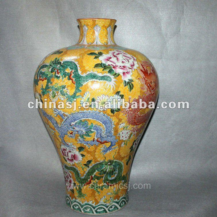 Antique hand painted Porcelain flower Vase RYUY03
