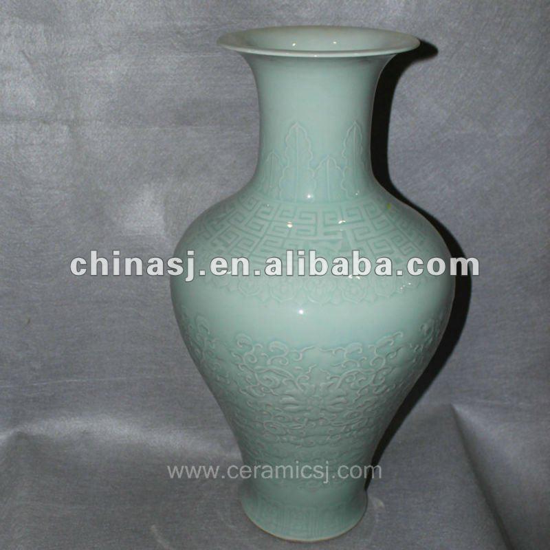 hand made green ceramic Vase RYVE04
