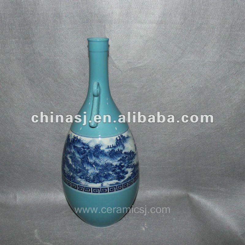 blue Decorative Porcelain Vase RYVF03