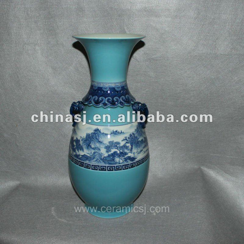 blue Decorative Porcelain Vase RYVF06