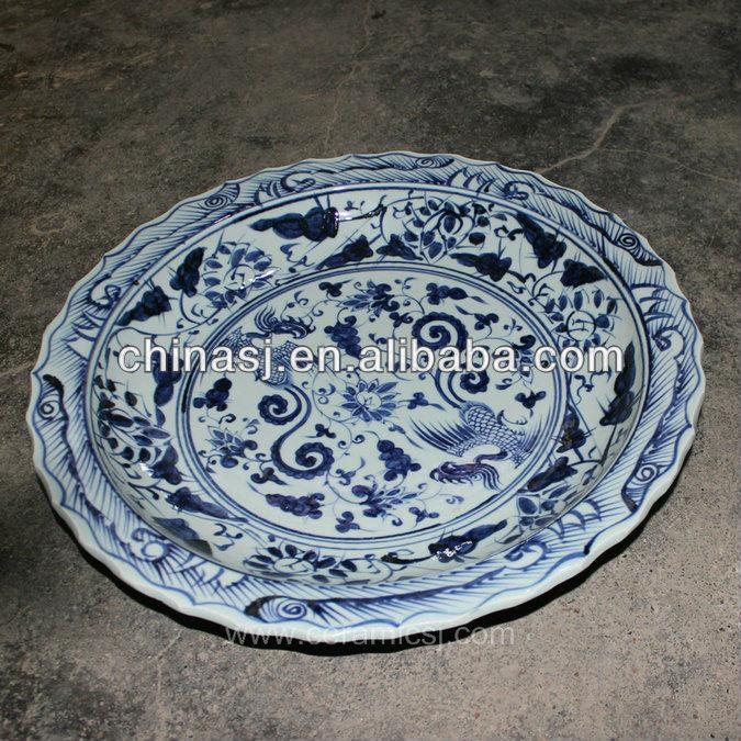 Oriental blue white Porcelain Decorative Plate RYVH04