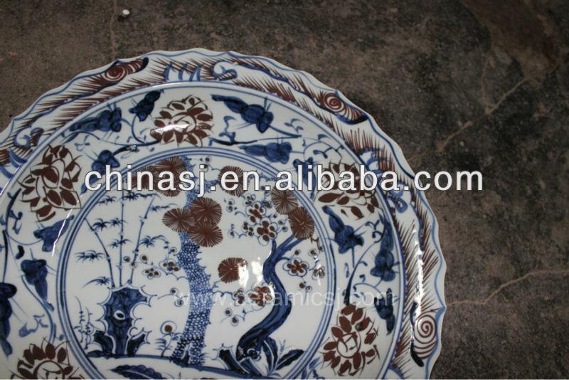 big decorative Porcelain Plate for appreciate RYVH11