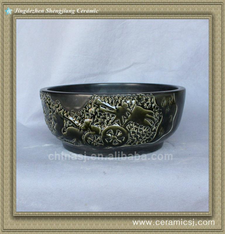 antique chinese ceramic bathroom sink WRYBH98