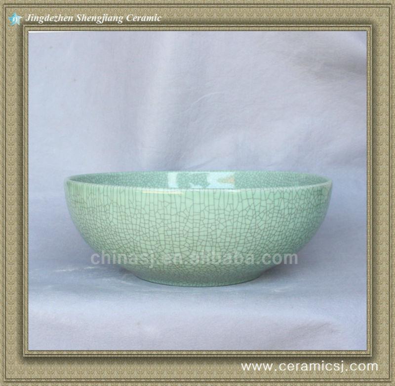 crackled chinese ceramic bathroom sink WRYBH89