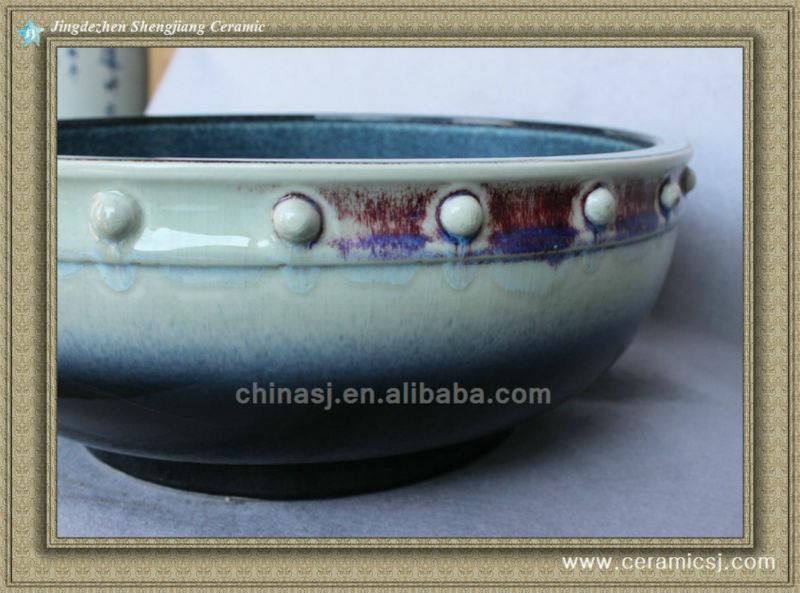 colorful chinese ceramic bathroom sink WRYBH100
