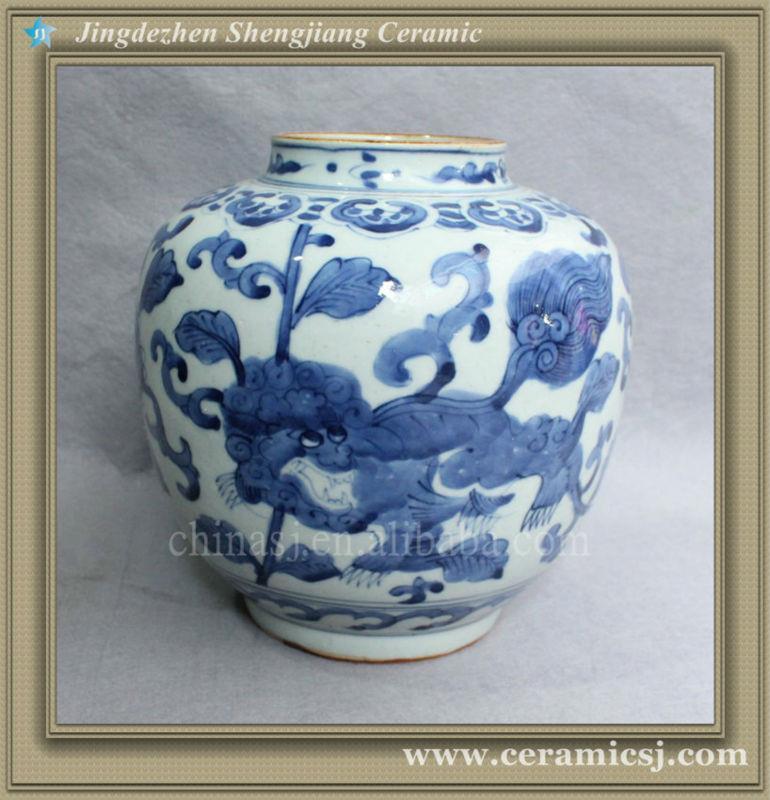 blue and white cheap porcelain flower vase RYVW01