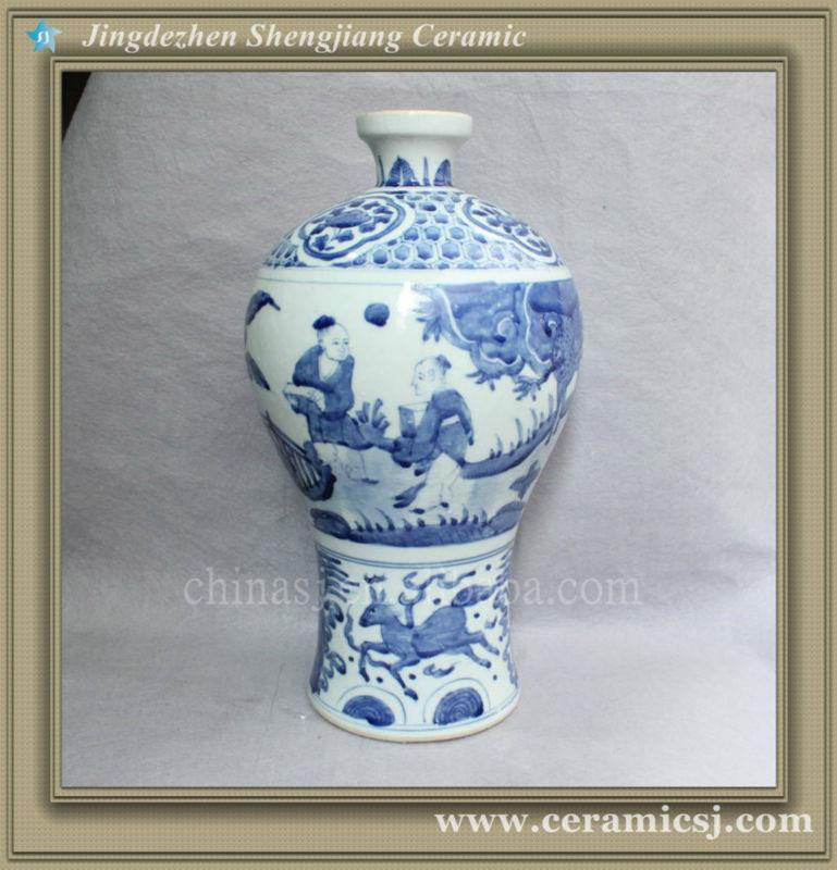 chinese blue and white hand painted flower vase RYVW07