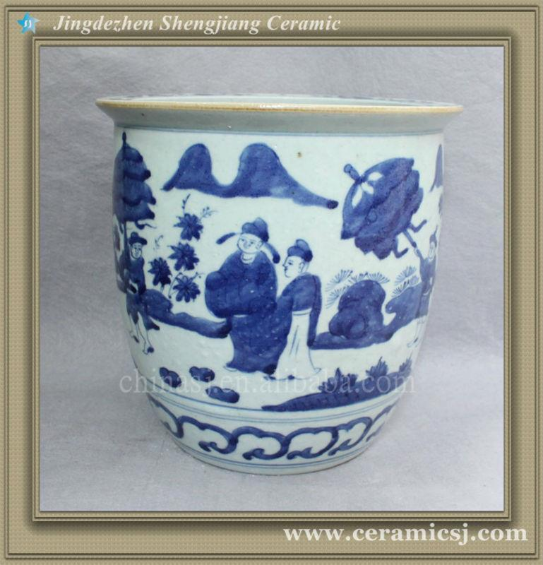 chinese blue and white hand painted flower vase RYVW08