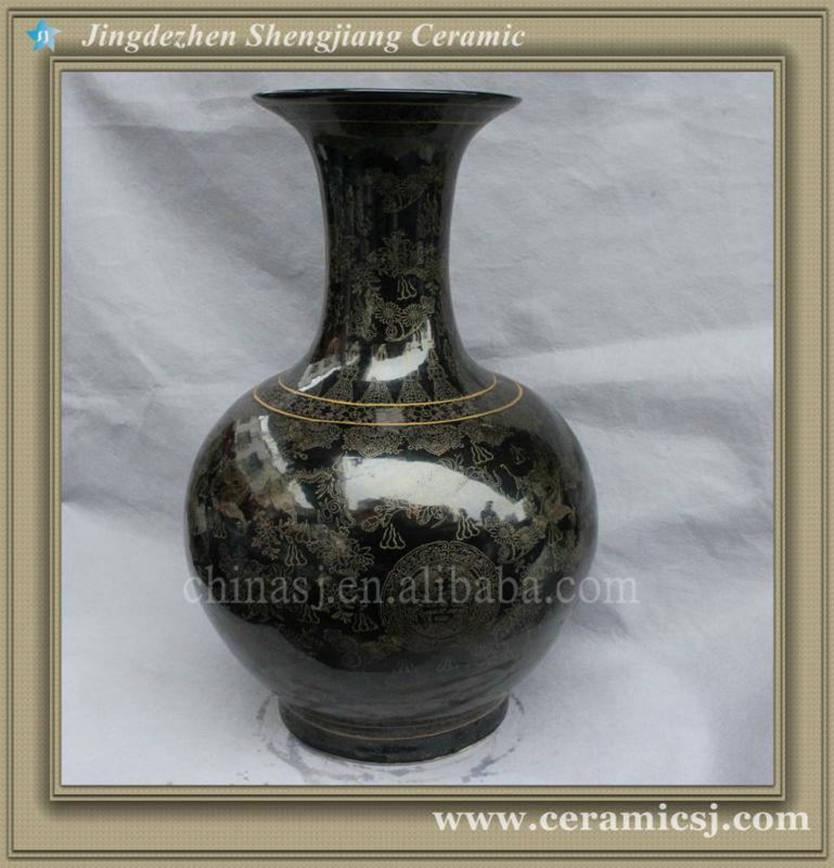 RYSV21 Black oriental modern flower cheap vase