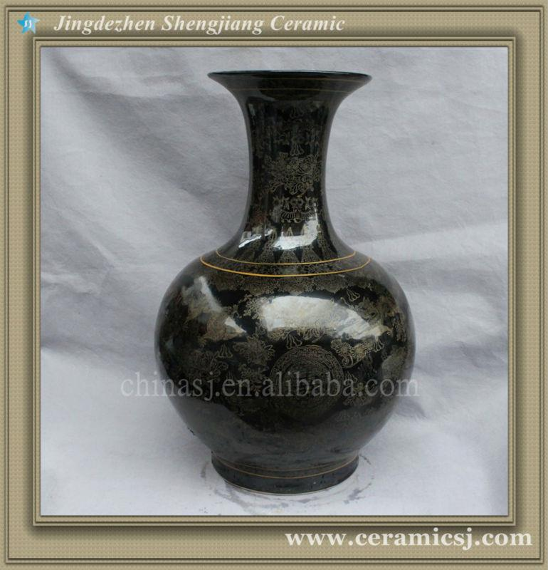 Rysv21 Black Oriental Modern Flower Cheap Vase
