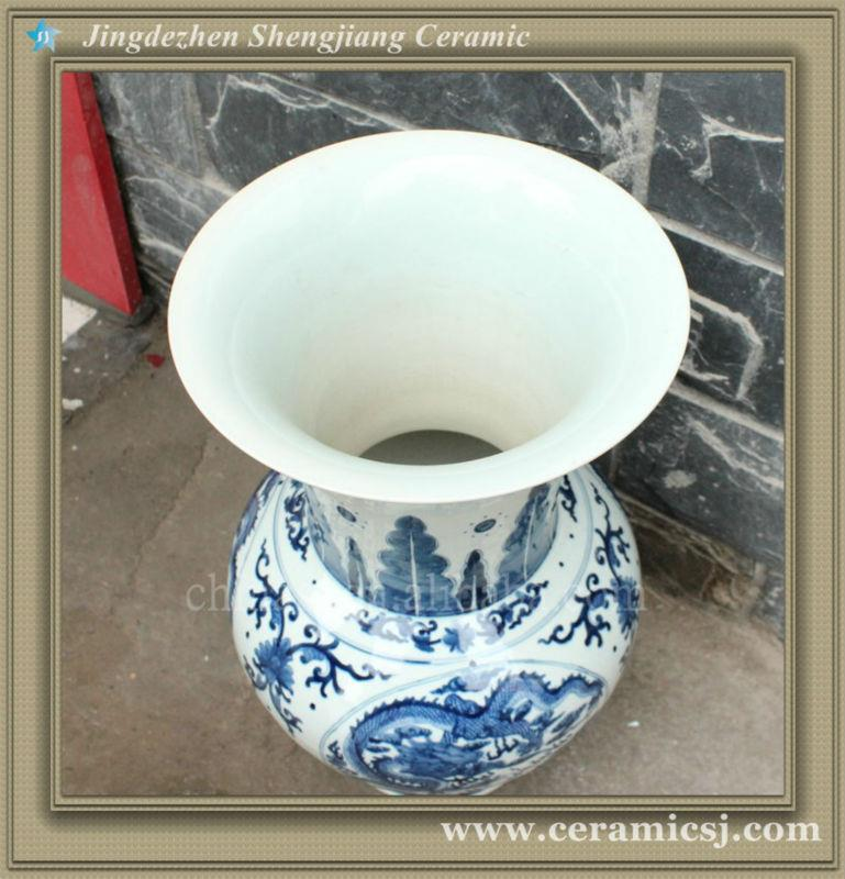 Ryuj12 Asian Cheap Ceramic Shop Vase Jingdezhen
