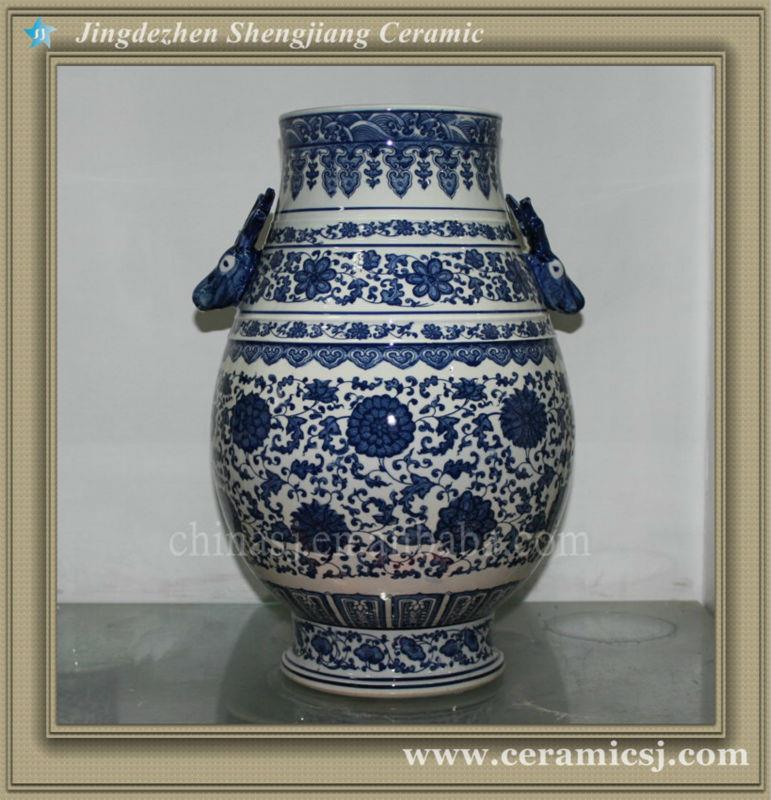 RYUJ10 Jingdezhen unique shape flower vase