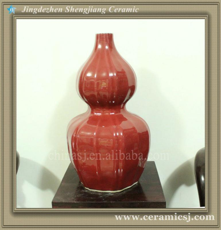 RYWC12 Mordern Chinese Red Vase