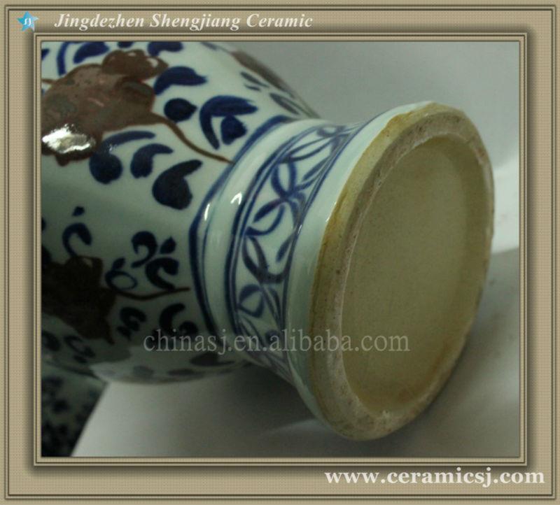 RYWE03 blue and white ceramic vase wholesale