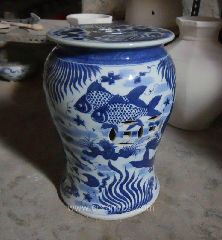 Antique Porcelain Garden Stool Wrysi01 Jingdezhen