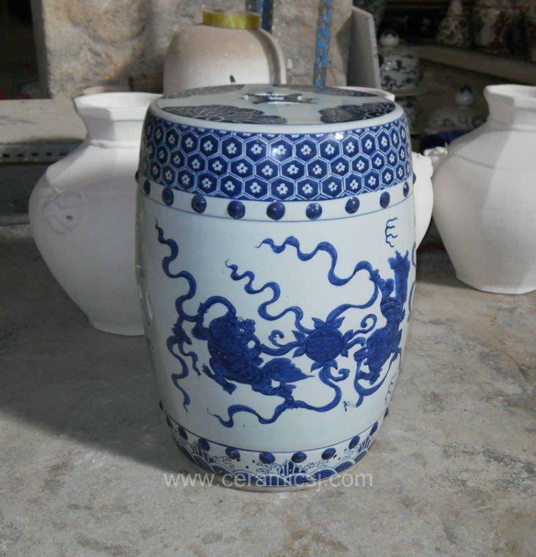 Chinese Kylin Ceramic Garden Stool WRYSI02