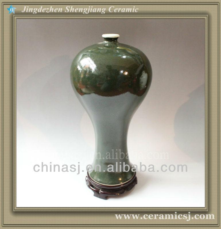 RYVZ05 Chinese jingdzhen green ceramic flower mini vase