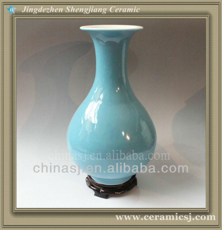 RYVZ08 Mini blue ceramic bud vase