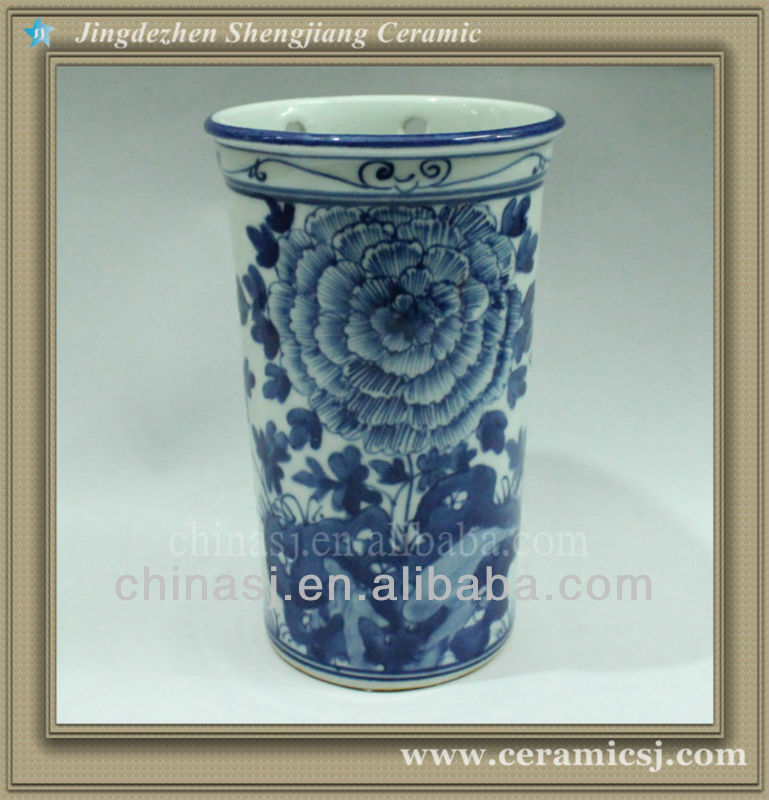 RYWK01 cheap chinese vase blue and white