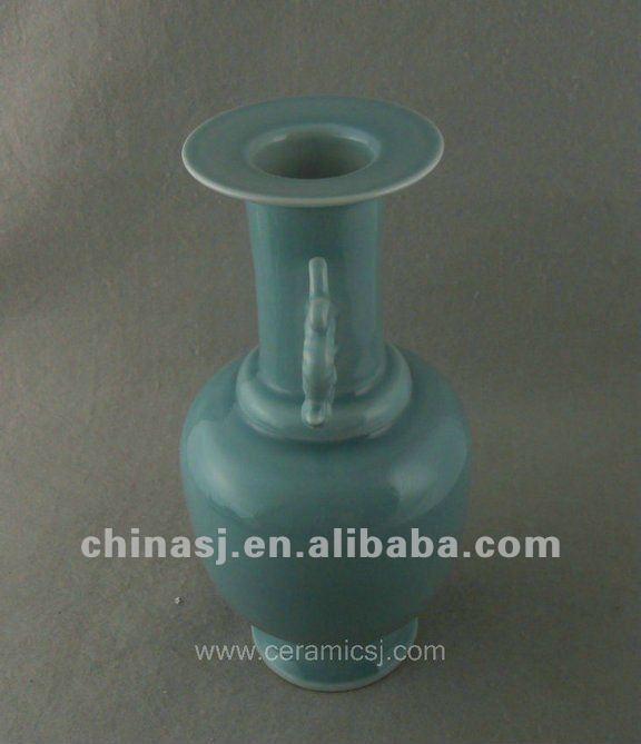 antique celadon porcelain vase with handles WRYKX15