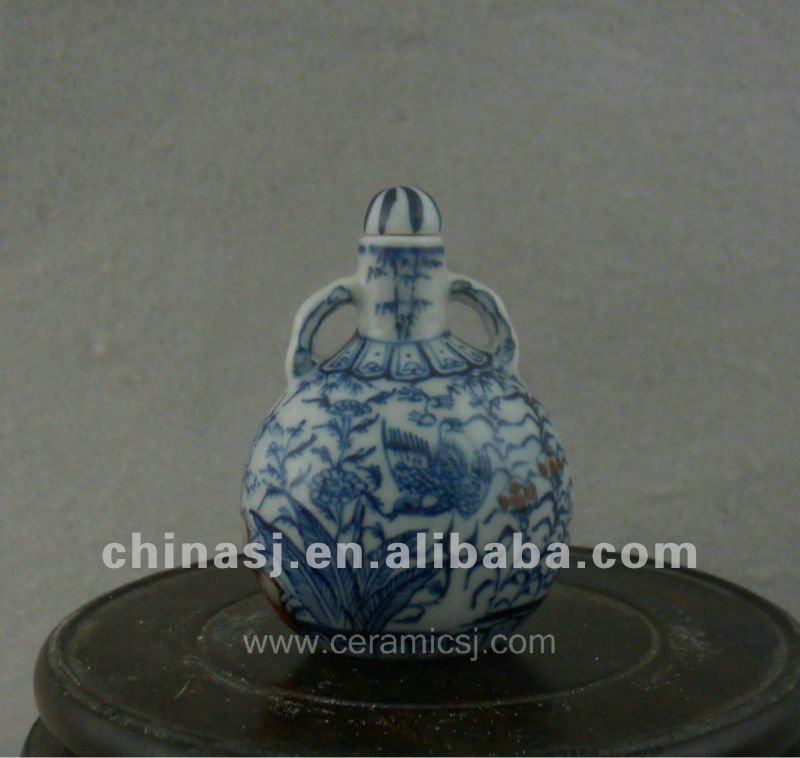 beautiful ceramic blue and white Tea set with fung-hwang design WRYAJ03