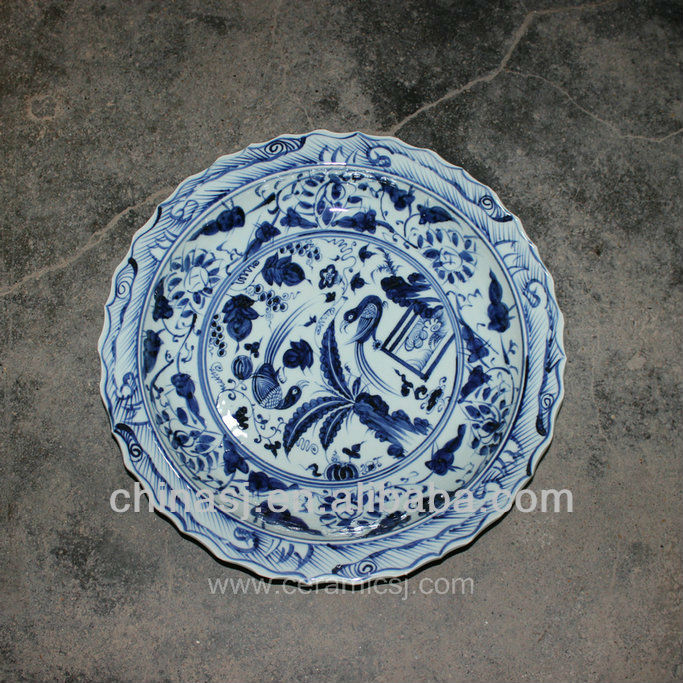 big decorative Porcelain Plate for appreciate RYVH06
