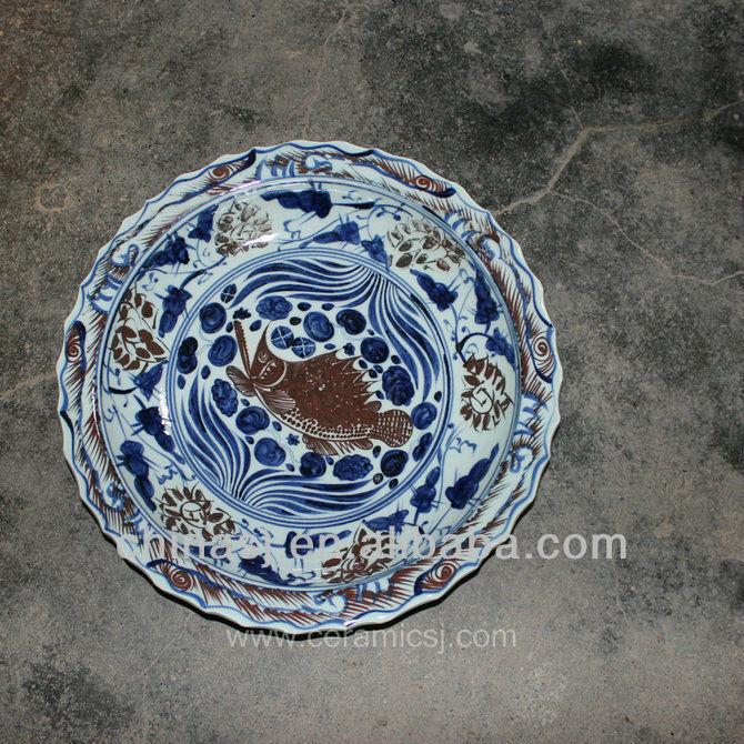 big decorative Porcelain Plate for appreciate RYVH09