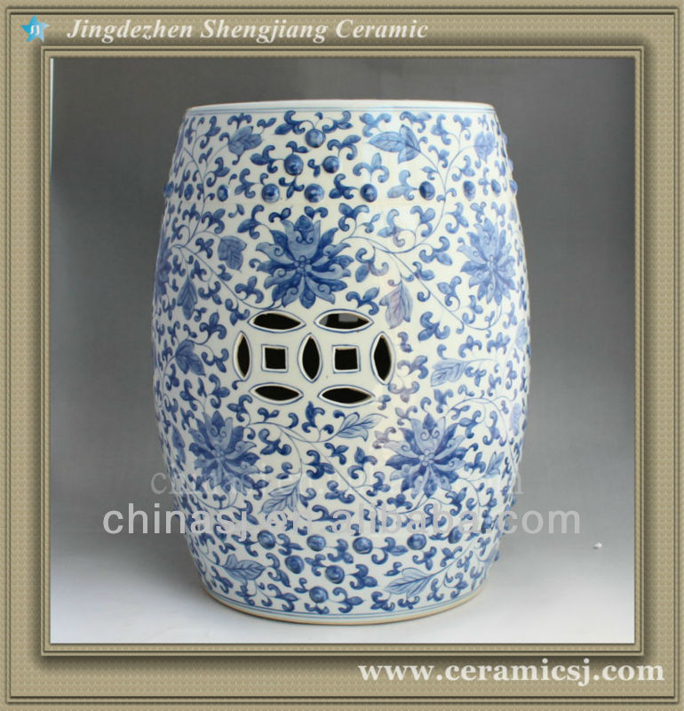 Blue And White Ceramic Garden Stool Rykf11 Jingdezhen