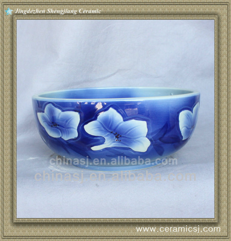 colorful chinese ceramic bathroom sink WRYBH93
