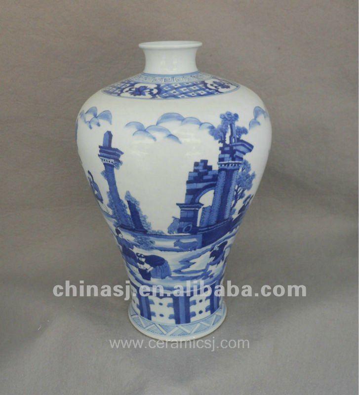 handmade antique design blue and white ceramic flower vase. Black Bedroom Furniture Sets. Home Design Ideas