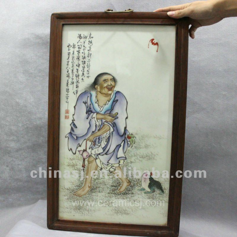 handmade wucai people ceramic home wall decoration RYHS07