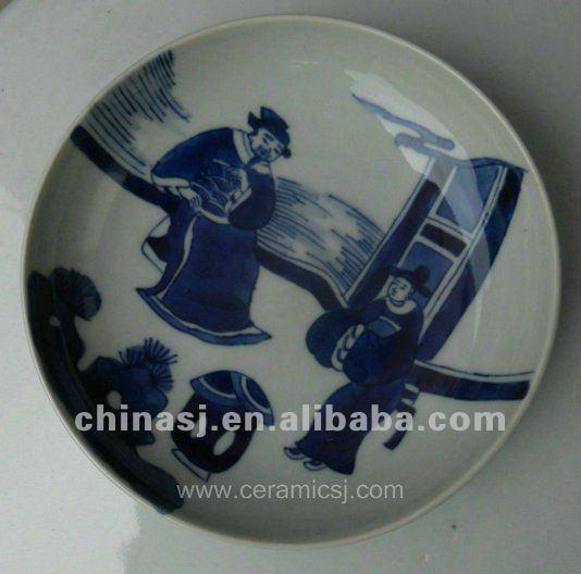 unique blue and white Ceramic Decor Plate WRYV92