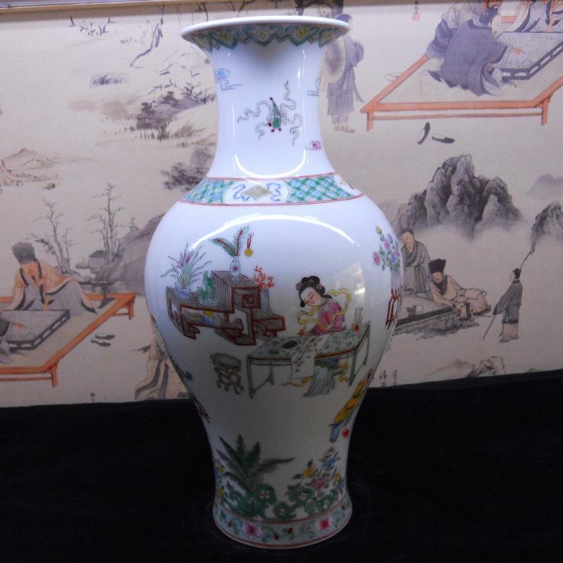 Hand made famille rose Porcelain Vase WRYBB90