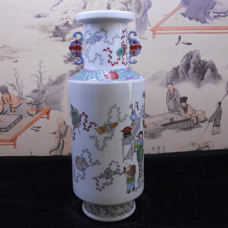 Hand made famille rose Porcelain Vase WRYBB91