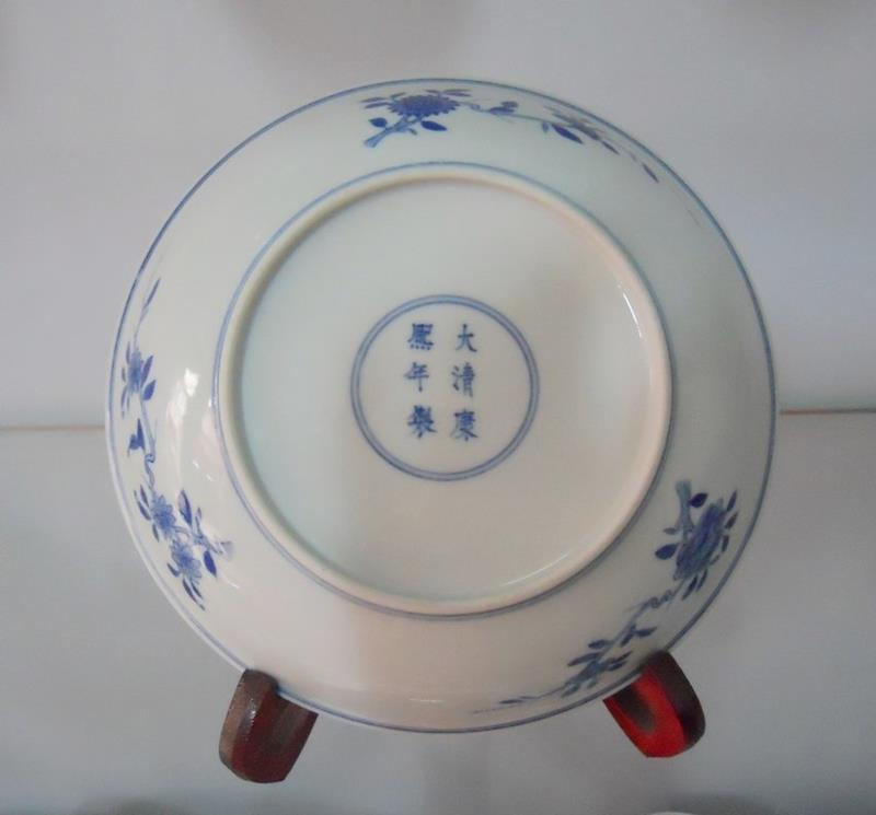 Handmade porcelain blue and white plate WRYAS59