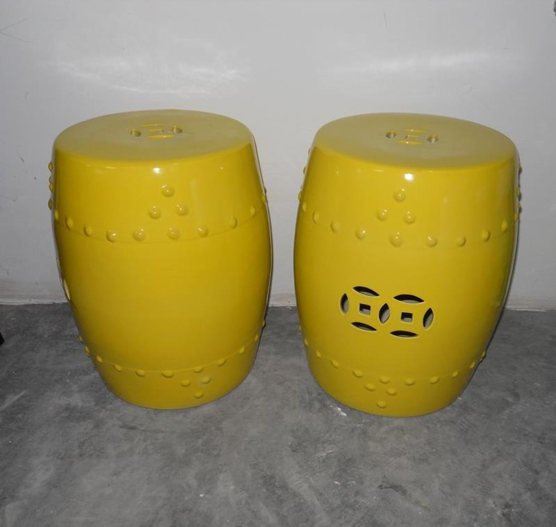 Ceramic Garden Stool Yellow Reversadermcreamcom