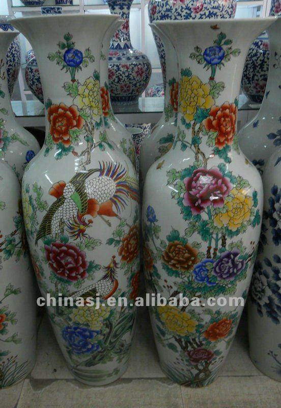 Chinese Big Dragon Floor Porcelain Vase