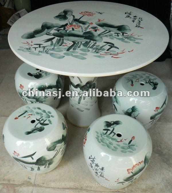 chinese ceramic garden table set WRYAY21