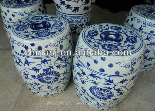 Blue And White Chinese Porcelain Garden Table Stool