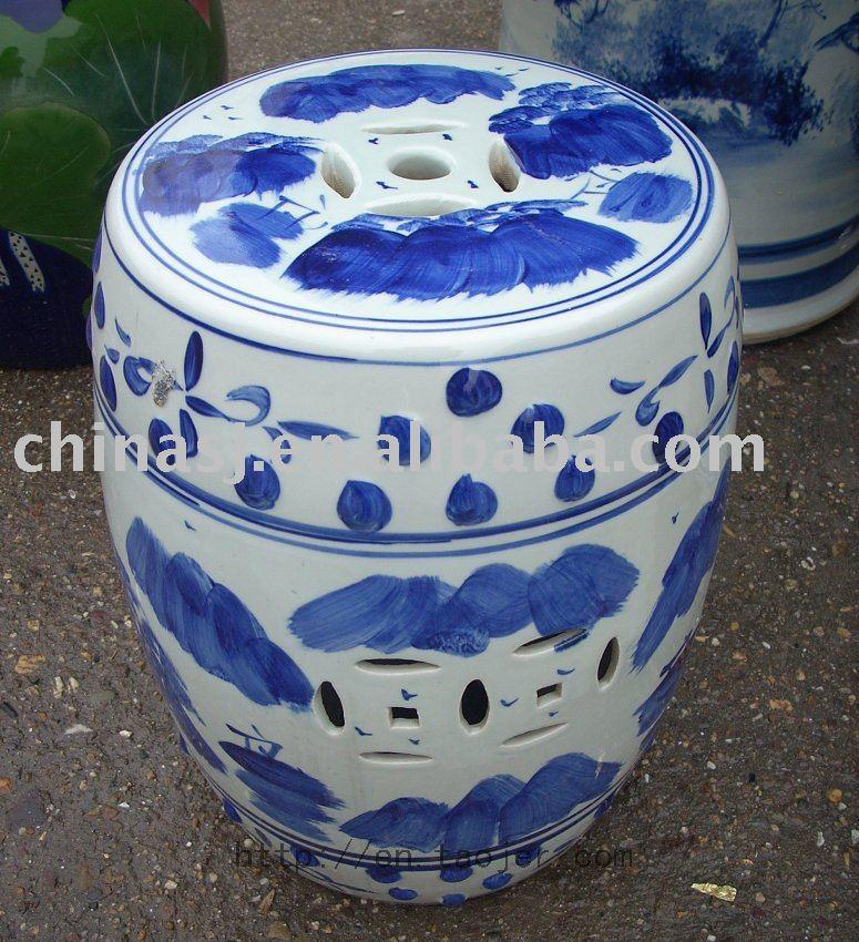 Blue And White Ceramic Garden Stool Ryaz319 Jingdezhen Shengjiang Ceramic Co Ltd